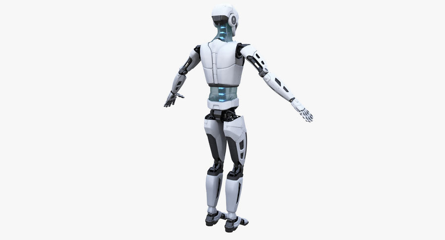 Android Robot Man royalty-free 3d model - Preview no. 11