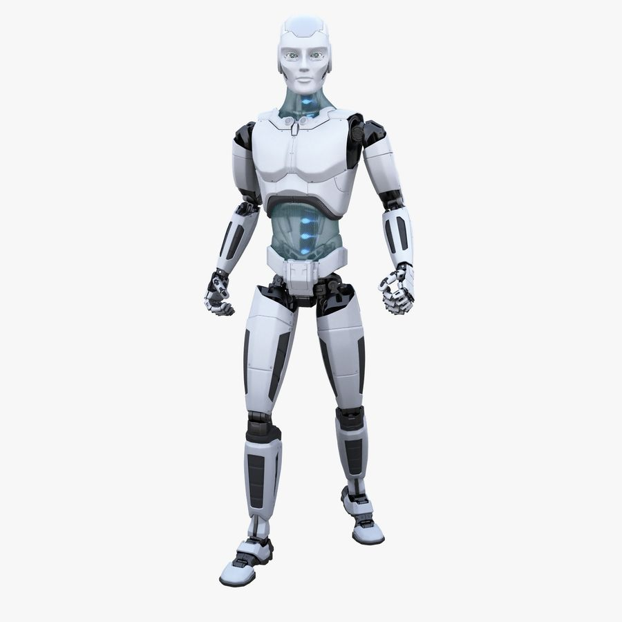 Android Robot Man royalty-free 3d model - Preview no. 1