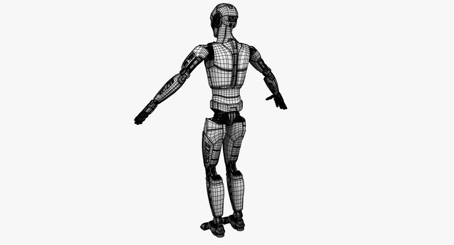 Android Robot Man royalty-free 3d model - Preview no. 24
