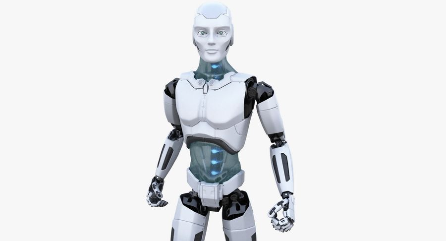 Android Robot Man royalty-free 3d model - Preview no. 3