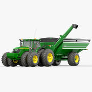 Utility Tractor with Grain Cart 3d model