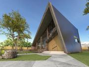 Современный дом с садом 3d model