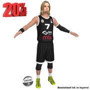 Gracz koszykówki Partizan 3d model