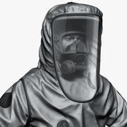 Tehlikeli madde işçisi seviye A Zbrush 3d model