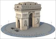 Arco do Triunfo, Paris 3d model