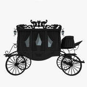 Black Carriage 3d model