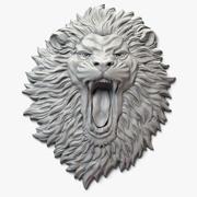 Lion Face Aggressive Relief 3d model