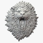 Lion Face Aggressive Relief 3d model