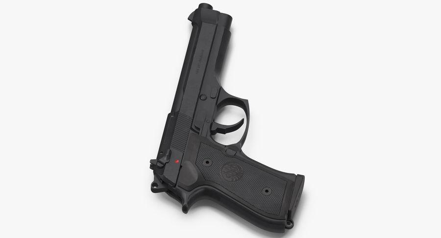 贝雷塔M9 royalty-free 3d model - Preview no. 5