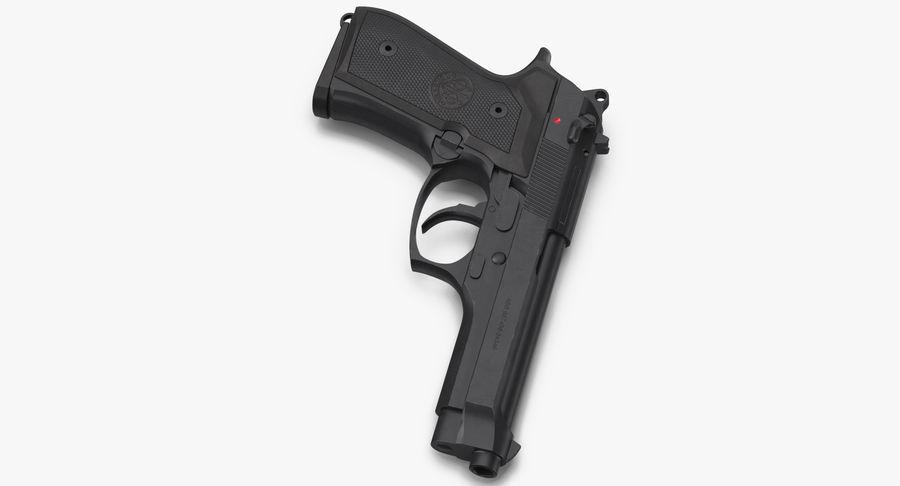贝雷塔M9 royalty-free 3d model - Preview no. 8