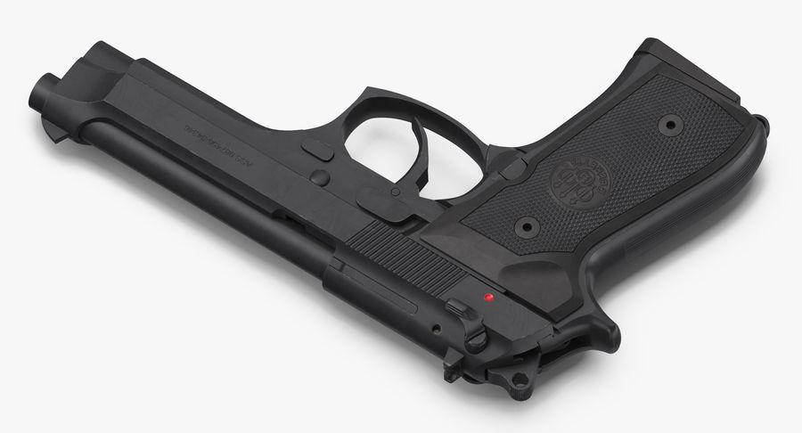 贝雷塔M9 royalty-free 3d model - Preview no. 4