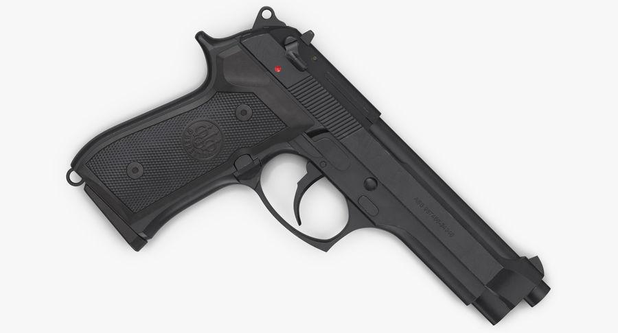 贝雷塔M9 royalty-free 3d model - Preview no. 7