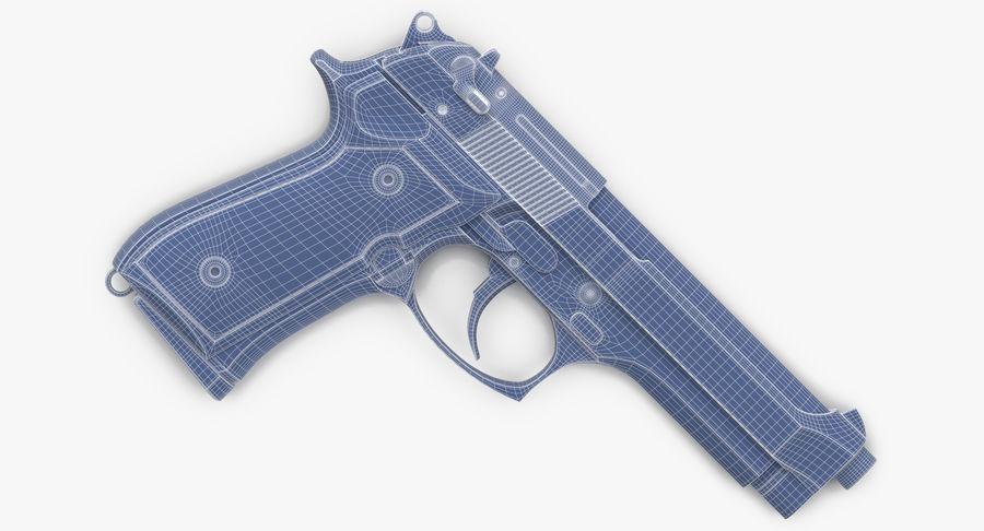 贝雷塔M9 royalty-free 3d model - Preview no. 12