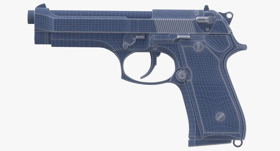 贝雷塔M9 royalty-free 3d model - Preview no. 14