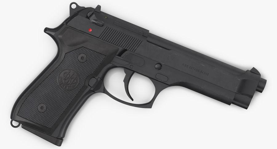 贝雷塔M9 royalty-free 3d model - Preview no. 6