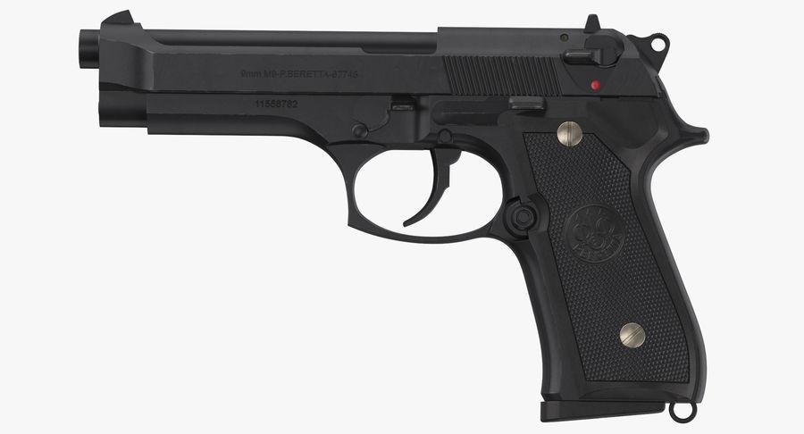 贝雷塔M9 royalty-free 3d model - Preview no. 9