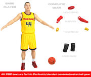 Basketballspieler U4 3d model