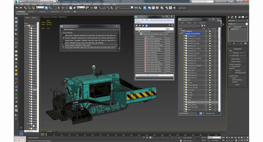 アスファルト舗装機械3Dモデル royalty-free 3d model - Preview no. 26