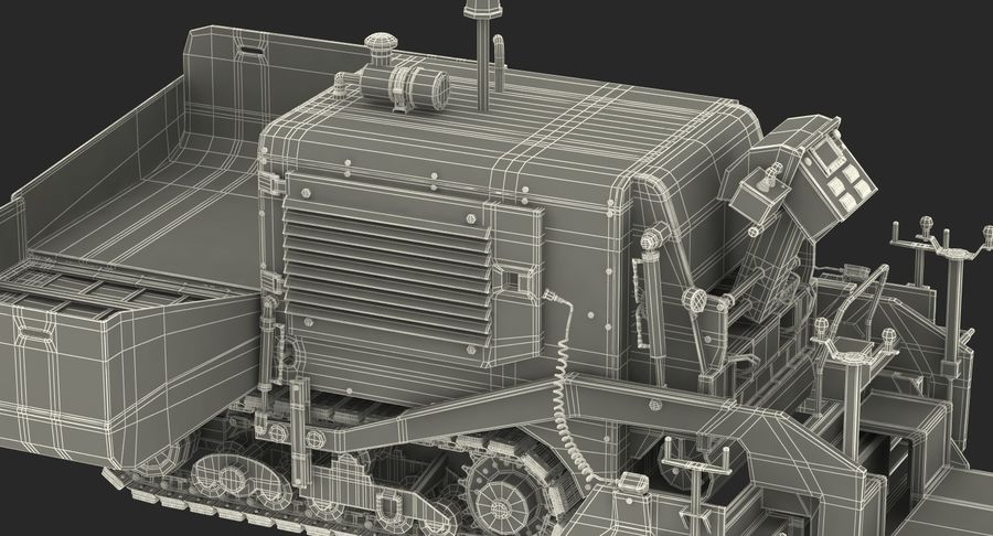 アスファルト舗装機械3Dモデル royalty-free 3d model - Preview no. 32