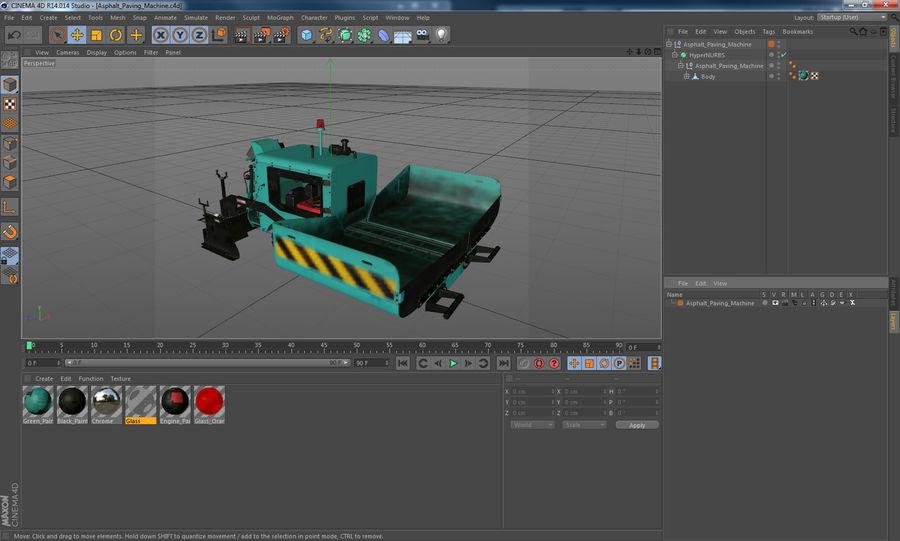 アスファルト舗装機械3Dモデル royalty-free 3d model - Preview no. 24
