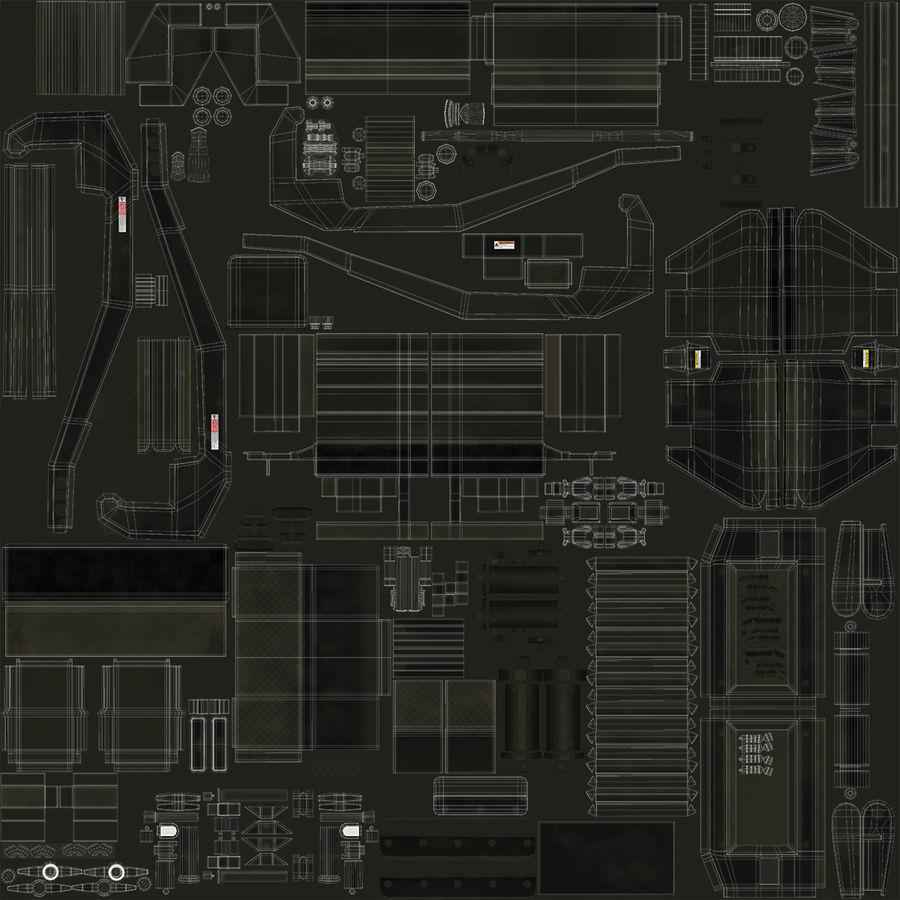 アスファルト舗装機械3Dモデル royalty-free 3d model - Preview no. 22