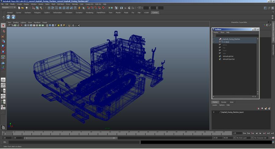 アスファルト舗装機械3Dモデル royalty-free 3d model - Preview no. 25