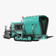 舗装機械折りたたみ3Dモデル 3d model
