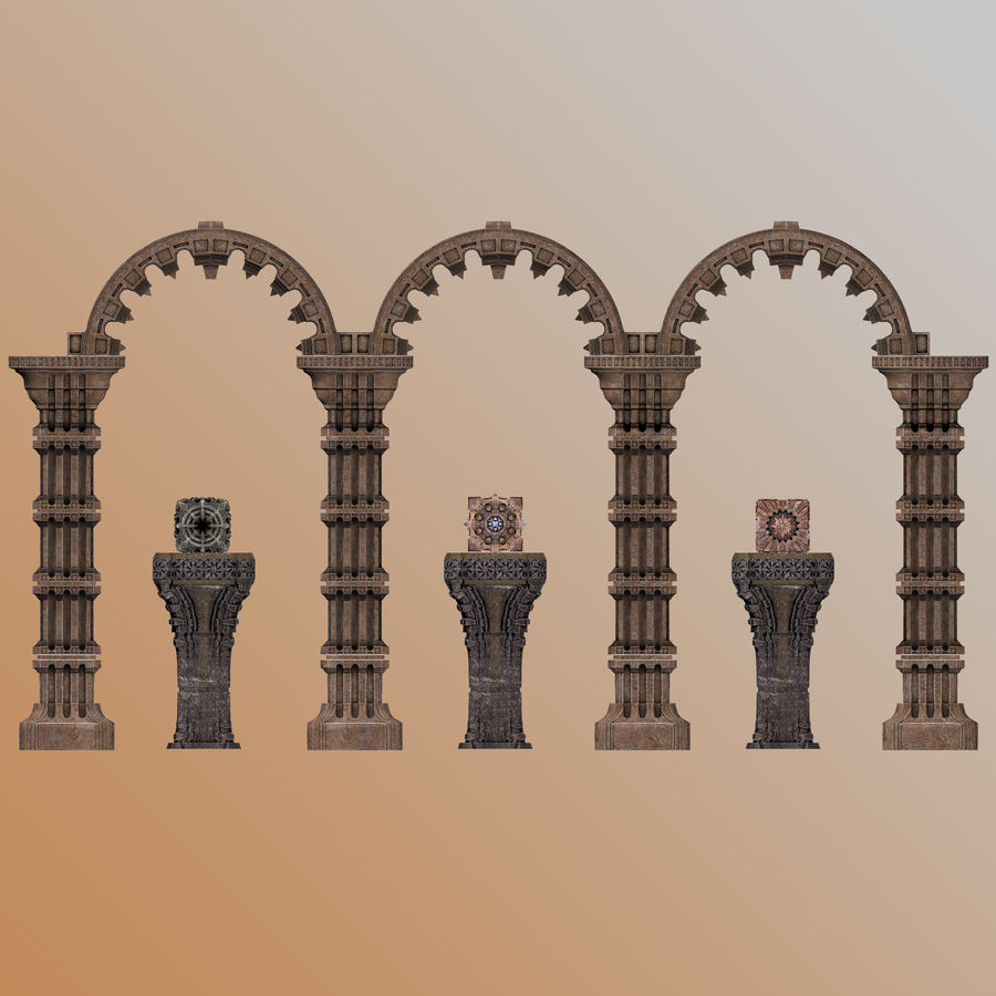 Architecture Scene royalty-free 3d model - Preview no. 3