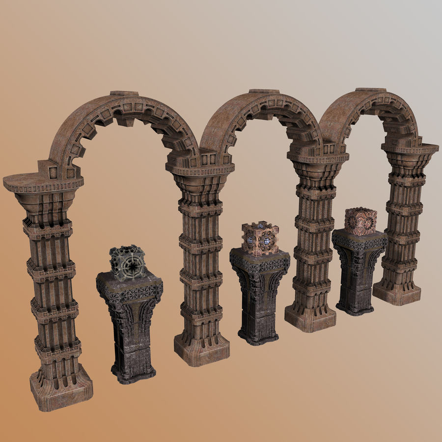Architecture Scene royalty-free 3d model - Preview no. 2