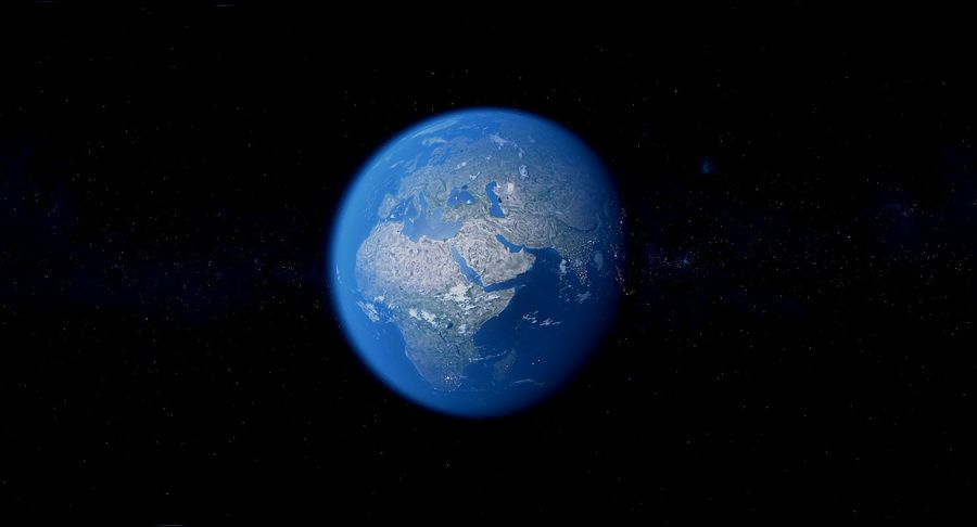Earth Photorealistic 8K royalty-free 3d model - Preview no. 20