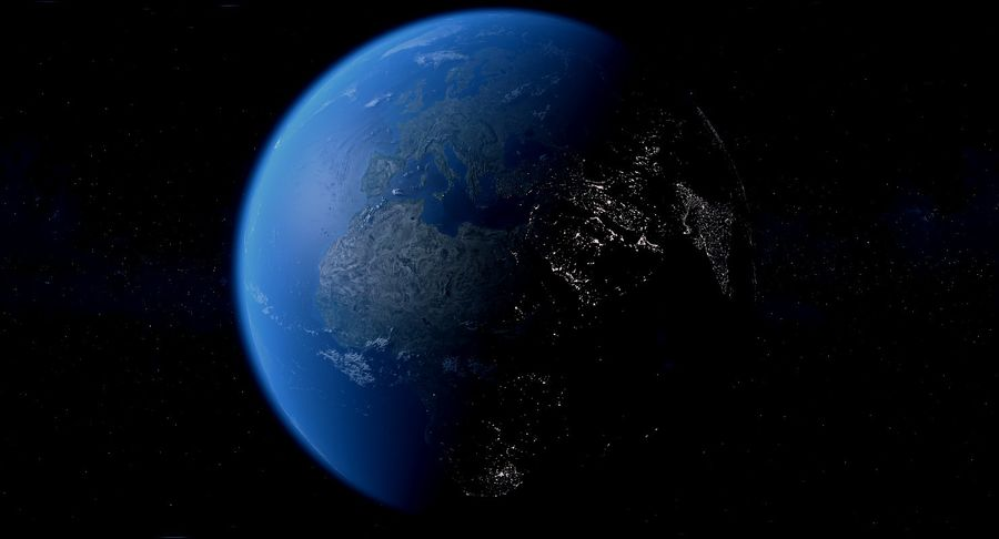 Earth Photorealistic 8K royalty-free 3d model - Preview no. 7