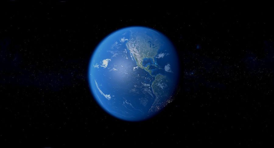 Earth Photorealistic 8K royalty-free 3d model - Preview no. 22