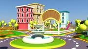 Cartoon stad buitenkant 3d model