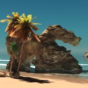Beach Side Scene 3d model