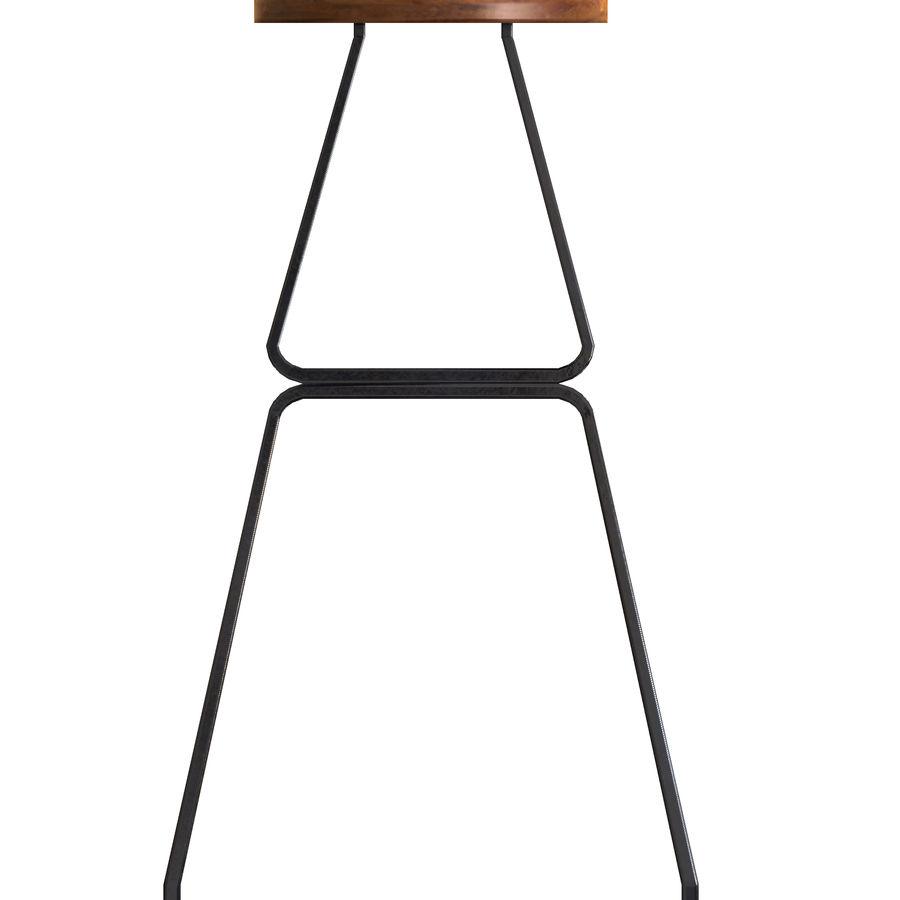 Hocker Stuhl royalty-free 3d model - Preview no. 3