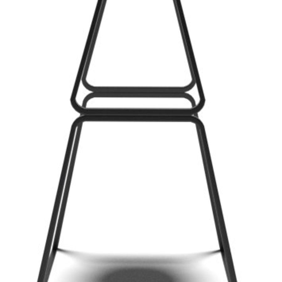 Hocker Stuhl royalty-free 3d model - Preview no. 2