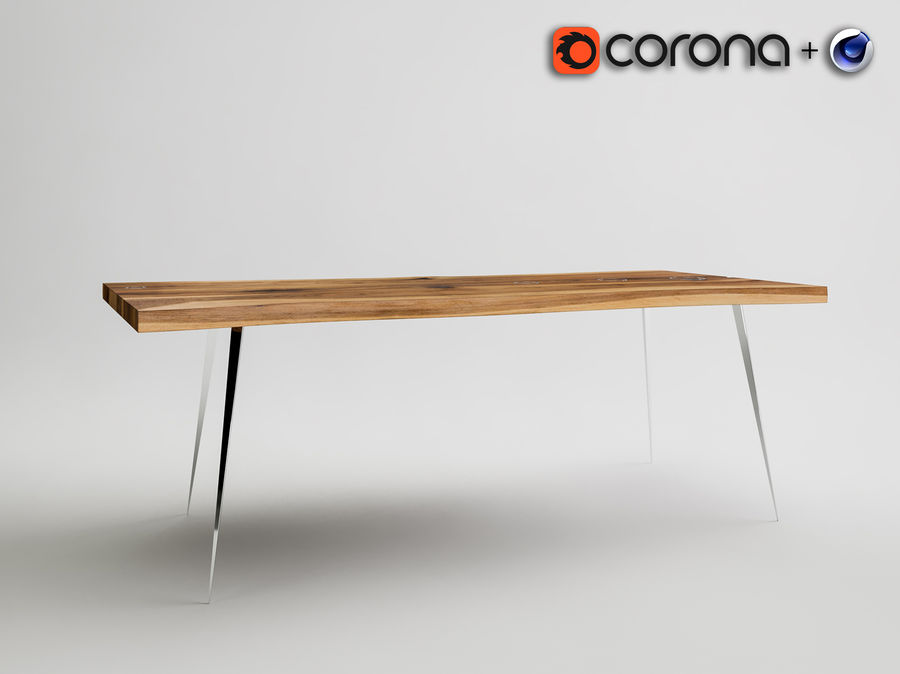 dinner table royalty-free 3d model - Preview no. 3