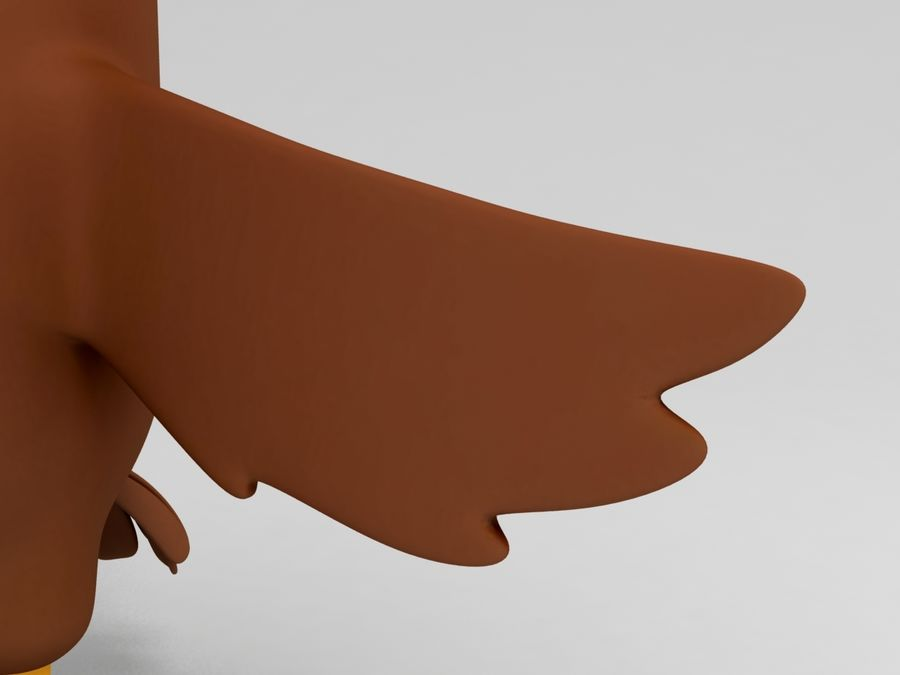 Brown Chicken Character royalty-free 3d model - Preview no. 5