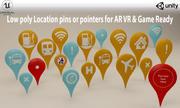 位置图钉或图标3D模型VR / AR /低聚3D模型 3d model