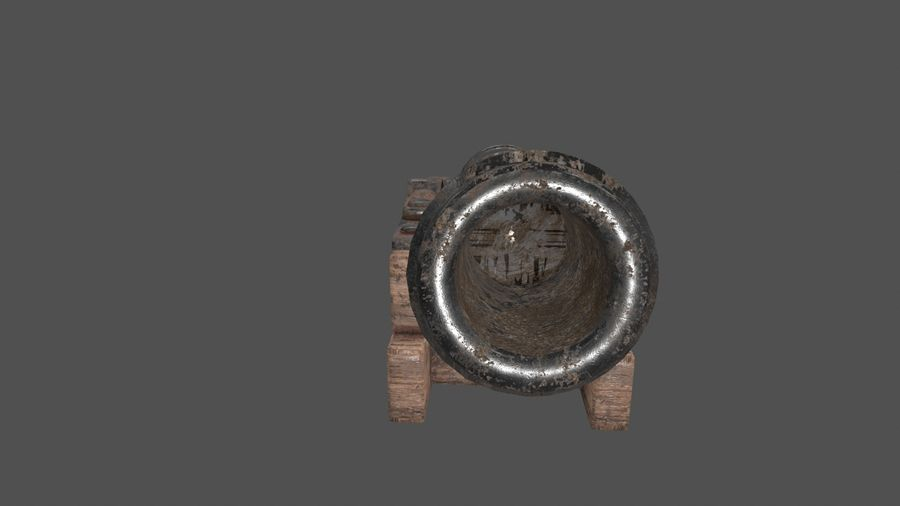 old canon royalty-free 3d model - Preview no. 7