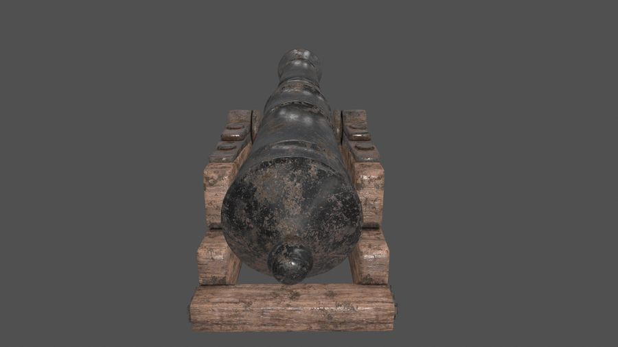 old canon royalty-free 3d model - Preview no. 3