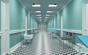 医院走廊 3d model