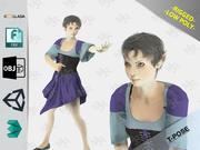 Elfka Kobieta 1 3d model