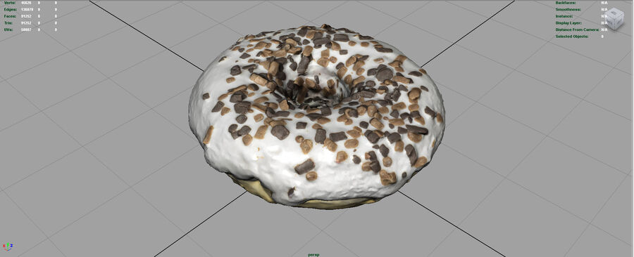 CIAMBELLE AL CIOCCOLATO royalty-free 3d model - Preview no. 4