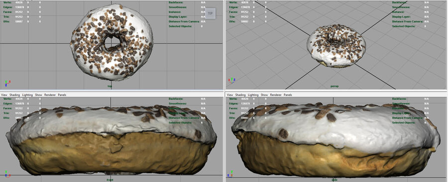 CIAMBELLE AL CIOCCOLATO royalty-free 3d model - Preview no. 8