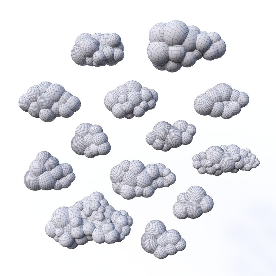 Pack de nuages royalty-free 3d model - Preview no. 15
