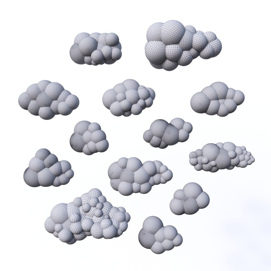 Pack de nuages royalty-free 3d model - Preview no. 16