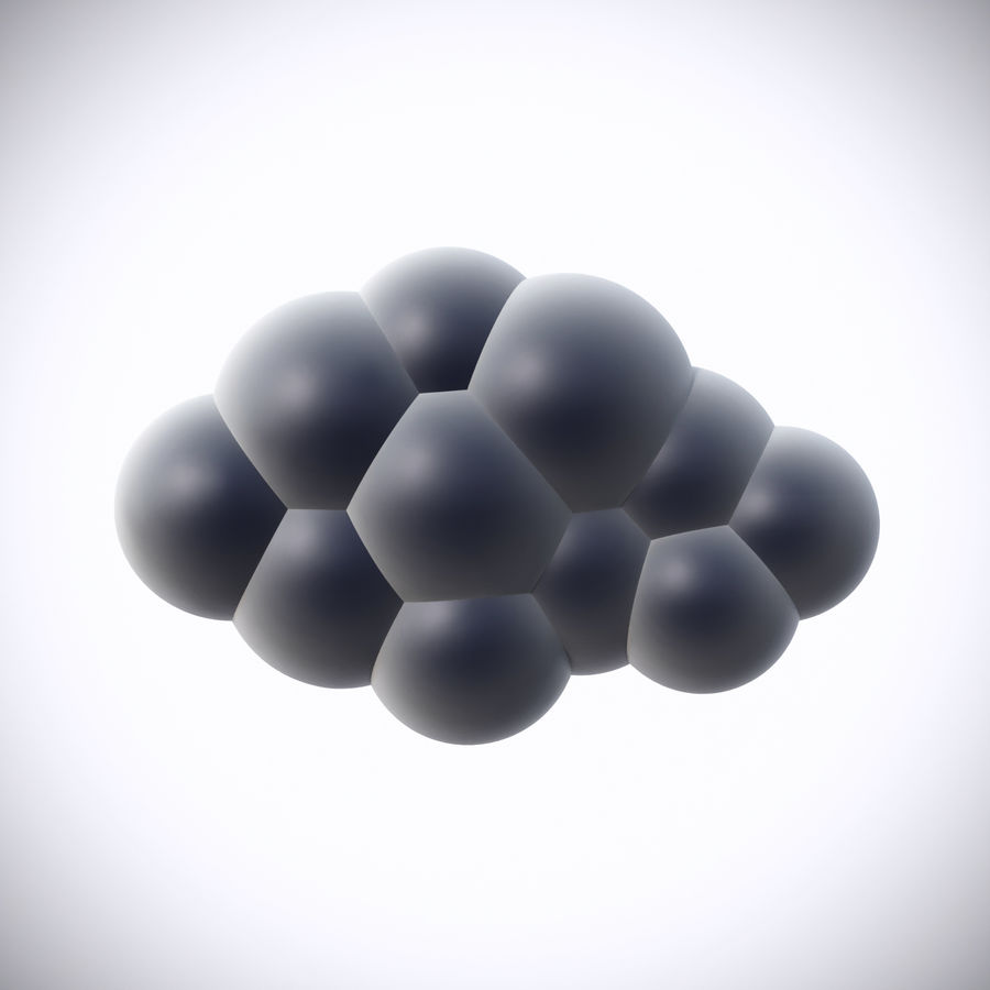 Pack de nuages royalty-free 3d model - Preview no. 4