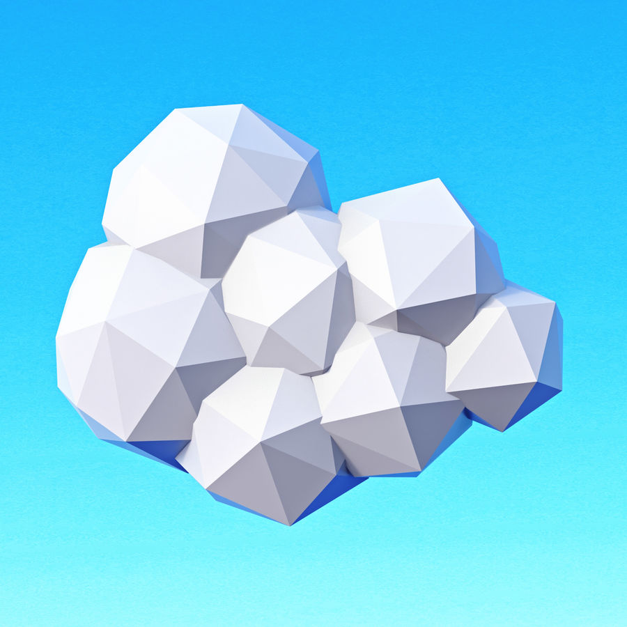 Clouds Pack Düşük Poli royalty-free 3d model - Preview no. 14