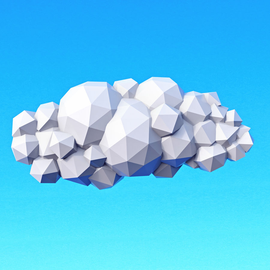 Clouds Pack Düşük Poli royalty-free 3d model - Preview no. 11